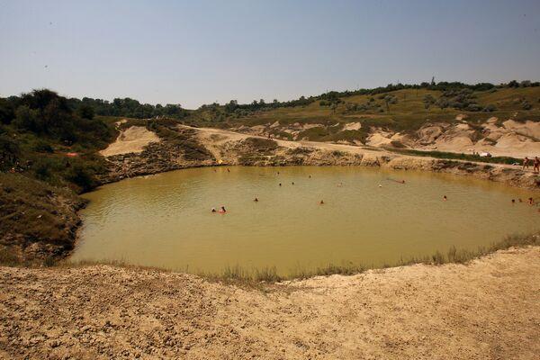 Lac cu apă sărată de la Turda