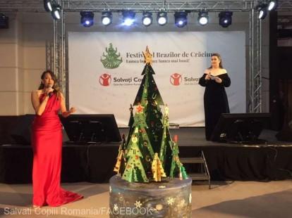 VIDEO Festivalul Brazilor de Crăciun - Au fost strânşi 770.000 de euro; creaţia lui Dhaniel Nora - 137.000 de euro