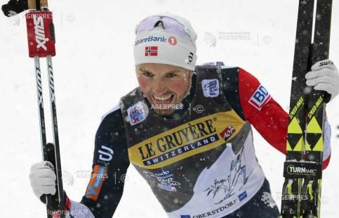 Schi fond: Norvegianul Emil Iversen a câştigat proba de 15 km mass start, în Turul de schi