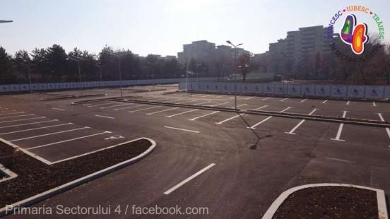 Primăria sectorului 4 a inaugurat o parcare publică unde locurile pentru abonaţi au blocatoare