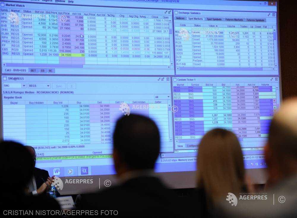 Valoarea tranzacţiilor cu acţiuni de pe segmentul principal al pieţei de capital româneşti a urcat cu 117,8%, săptămâna aceasta