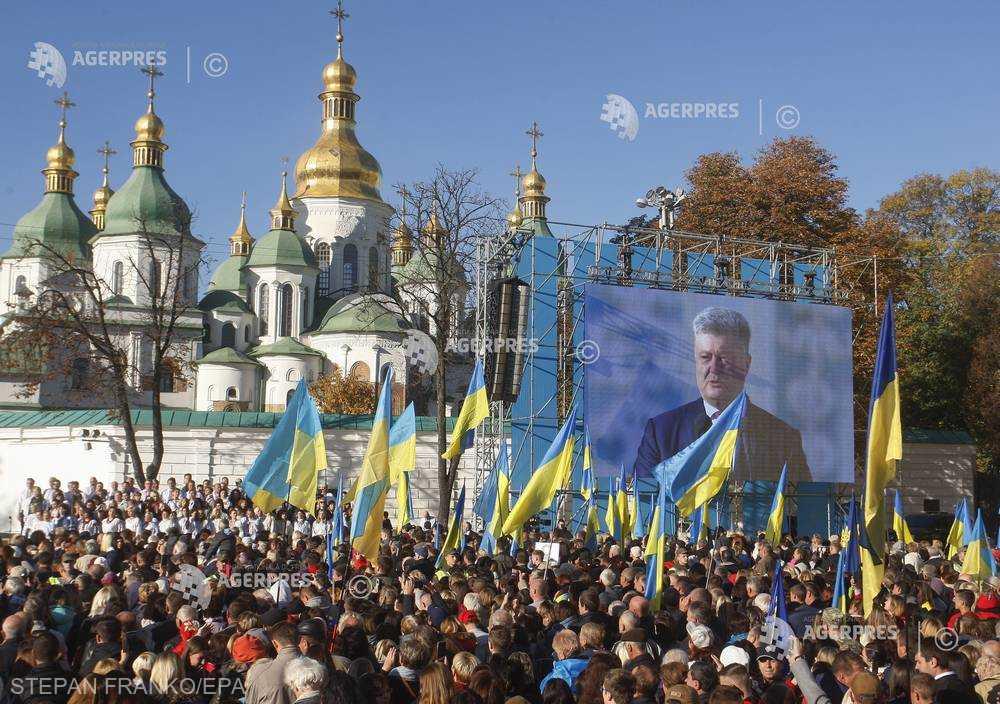 Mii de ucraineni adunaţi la Kiev pentru a sprijini crearea unei Biserici ortodoxe independente