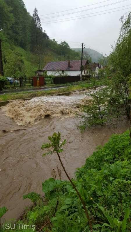 Timiş: Cod portocaliu de inundaţii, cu debitele râurilor în creştere