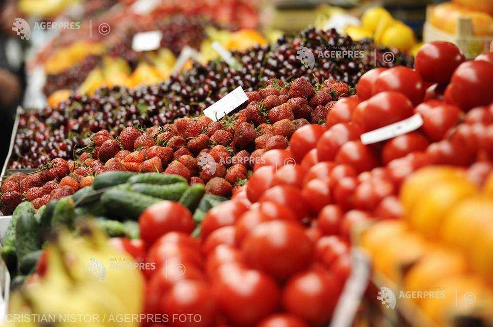 INS: Importuri de legume şi fructe de 691 milioane euro, în primele 5 luni; exporturile au totalizat 57,6 milioane euro