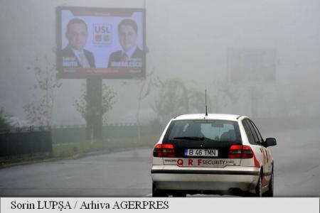 Județele Satu Mare, Bihor și Arad, sub Cod galben de ceață și vizibilitate redusă până la ora 11:00