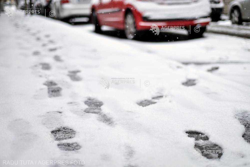 ANM: Cod galben de ninsoare şi vânt puternic în opt judeţe din Moldova, marţi seara