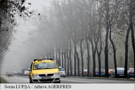 Cod galben de ceață în județele Cluj, Sălaj, Bistrița-Năsăud și Harghita, în următoarele ore