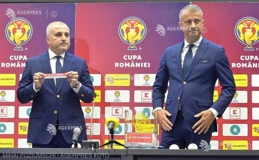 Fotbal: CS Universitatea Craiova - Dinamo, capul de afiş al sferturilor Cupei României