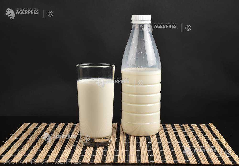 INS: Cantitatea de lapte de vacă colectată de unităţile procesatoare, în creştere cu 8,9%, în primele 4 luni