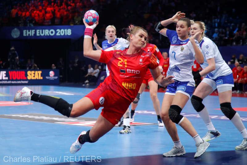 Handbal feminin: România, învinsă de Rusia cu 28-22, în semifinalele EURO 2018