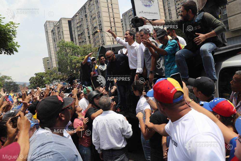 Venezuela: Guaido cheamă la grevă generală, Maduro promite că îi va pedepsi pe trădători