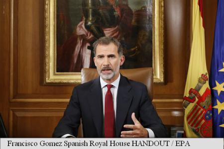 Regele Spaniei: Statul trebuie să asigure ordinea constituțională în Catalonia