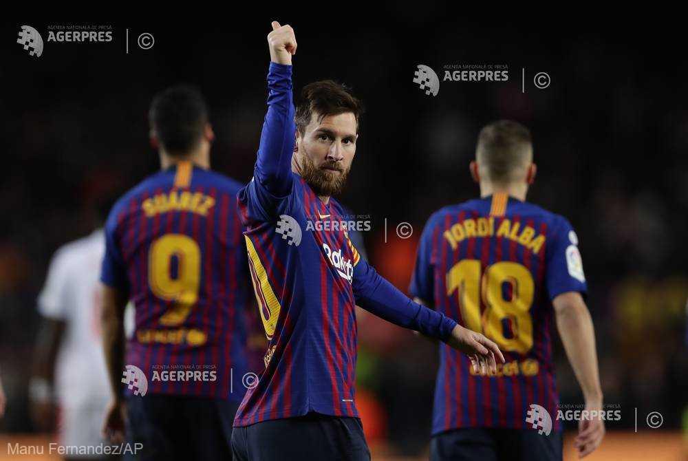 Fotbal: Lionel Messi (FC Barcelona), la cel de-al 400-lea său gol în campionatul Spaniei