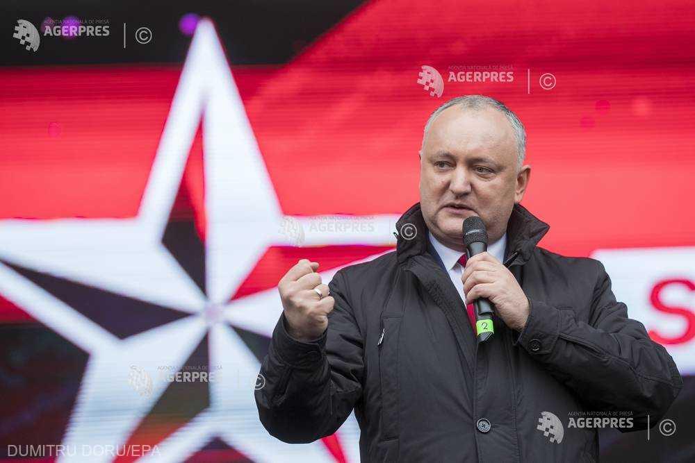 Republica Moldova/alegeri: Igor Dodon se implică în campania socialiştilor; blocul ACUM sesizează Comisia electorală