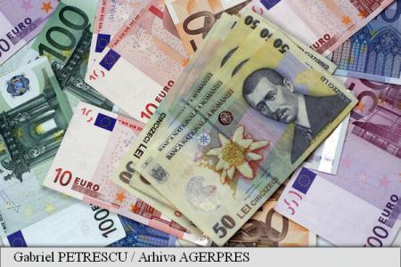 Leul s-a depreciat, luni, în raport cu principalele valute; BNR a anunțat un curs de 4,5019 lei/euro