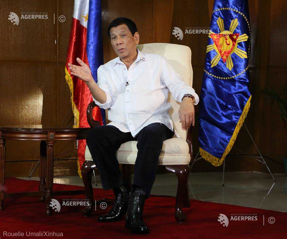 Preşedintele filipinez Rodrigo Duterte a mărturisit că şi-a agresat sexual menajera în adolescenţă