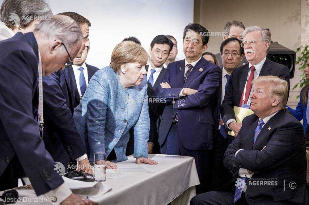 Trump: Fotografia virală de la summitul G7 nu reflectă realitatea
