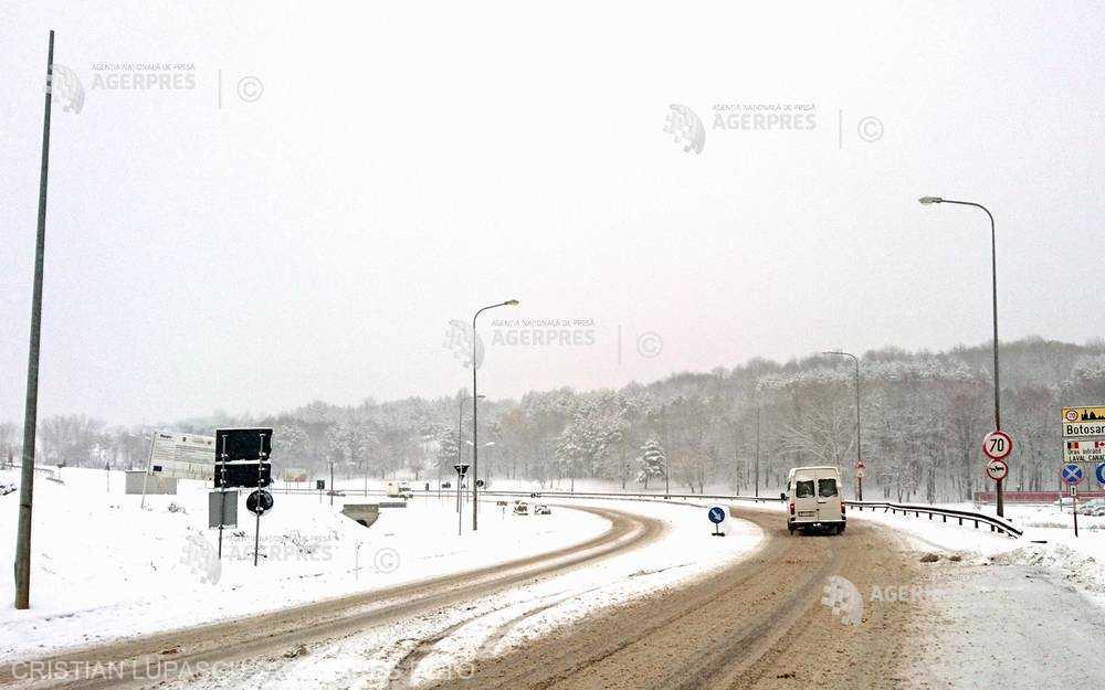 CNAIR: Nu sunt drumuri închise sau restricţionate din cauza condiţiilor meteo