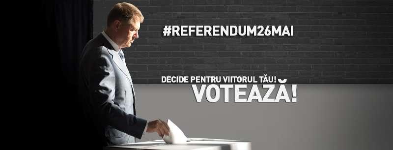 Preşedintele Iohannis îi îndeamnă pe cetăţeni să voteze la referendum