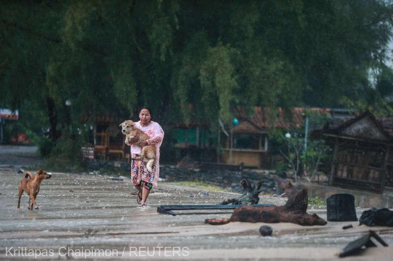 Furtuna tropicală Pabuk a atins zona de uscat în sudul Thailandei