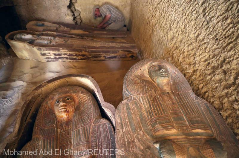 Un mormânt vechi de 4.400 de ani, descoperit în apropierea piramidelor de pe Platoul Giza