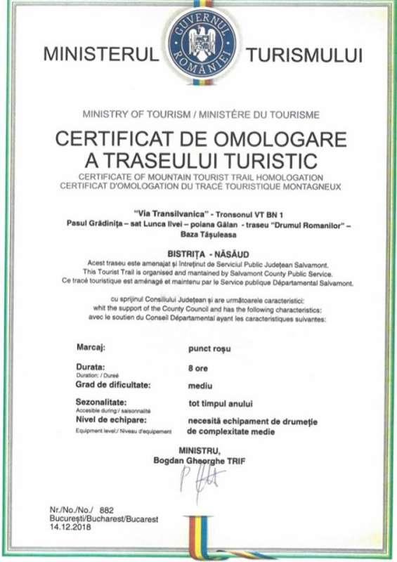 Bistriţa-Năsăud: Traseul Via Transilvanica a fost omologat oficial de Ministerul Turismului