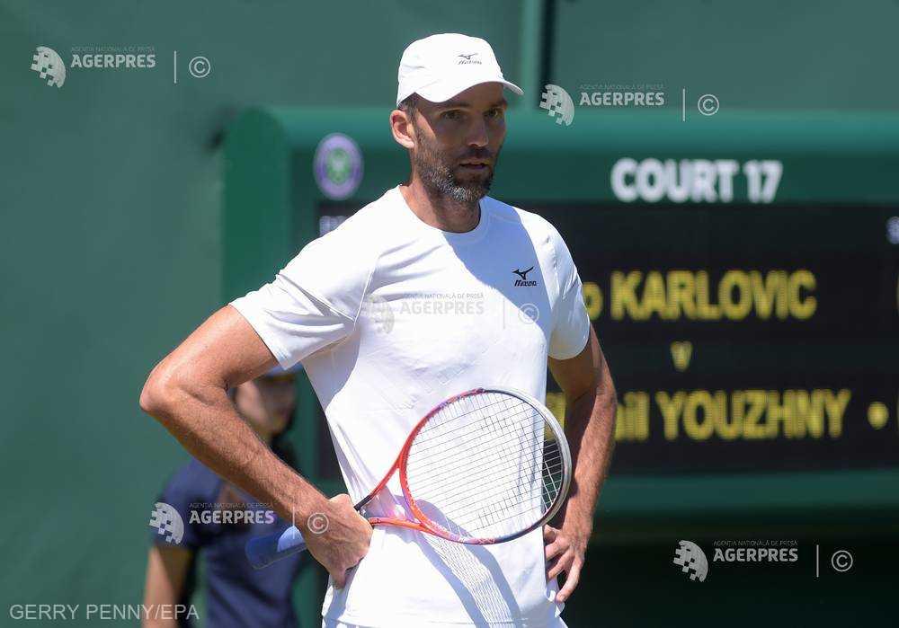 Tenis: Ivo Karlovic, eliminat în turul al doilea la Wimbledon, după ce a reuşit 61 de aşi