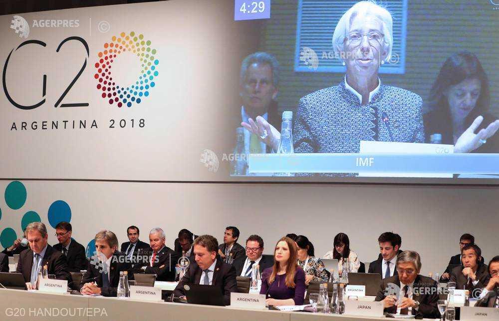 G20: Intensificarea tensiunilor comerciale şi geopolitice reprezintă un risc major la adresa creşterii economiei mondiale