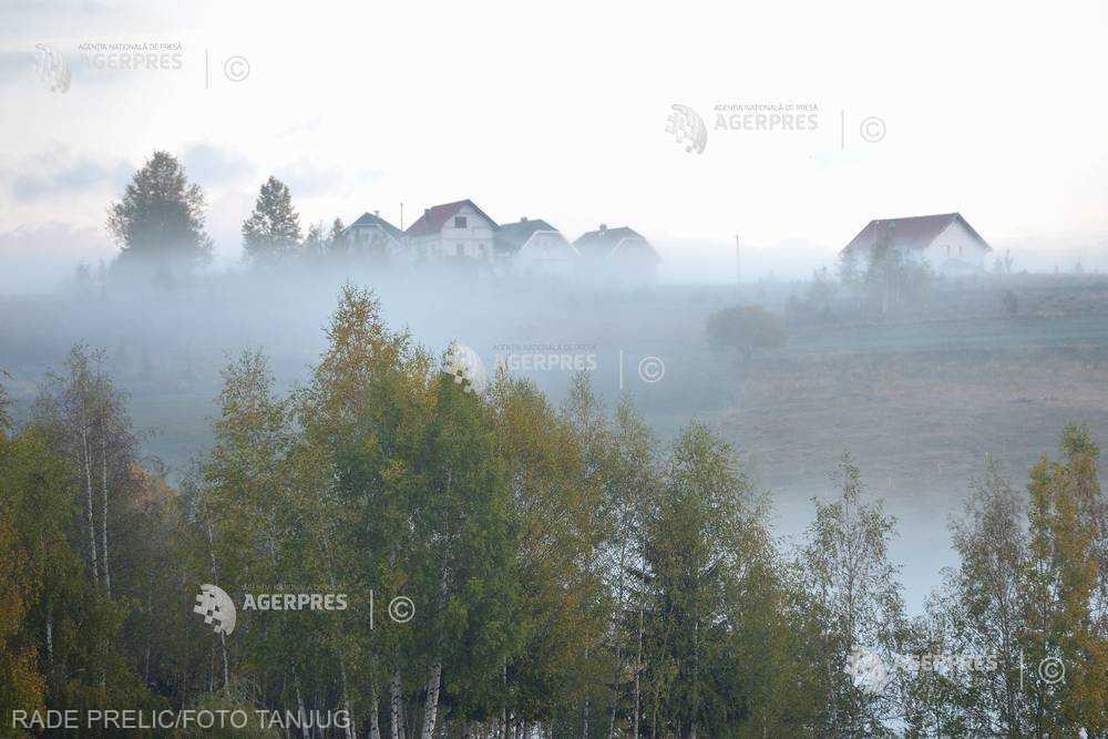 Cod galben de ceaţă în localităţi din judeţele Ialomiţa, Ilfov, Giurgiu, Călăraşi, Tulcea şi Harghita