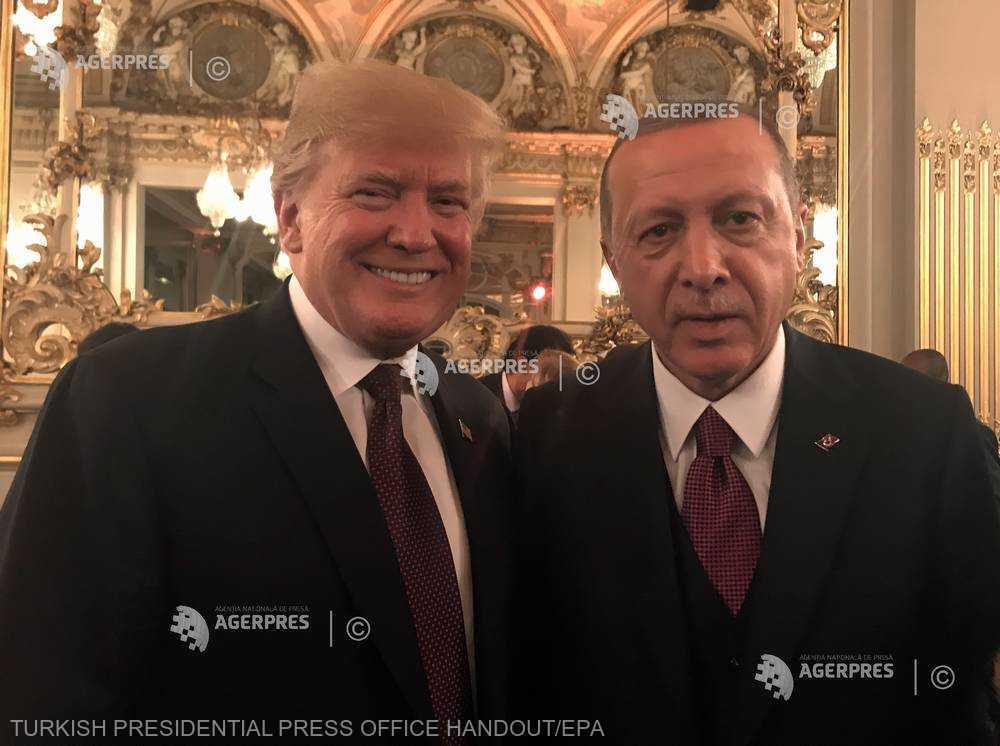 Erdogan şi Trump au convenit asupra unei coordonări bilaterale mai eficiente în privinţa Siriei