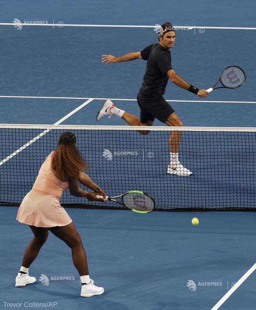 Tenis: Roger Federer, victorios în faţa Serenei Williams la dublu mixt, în Cupa Hopman