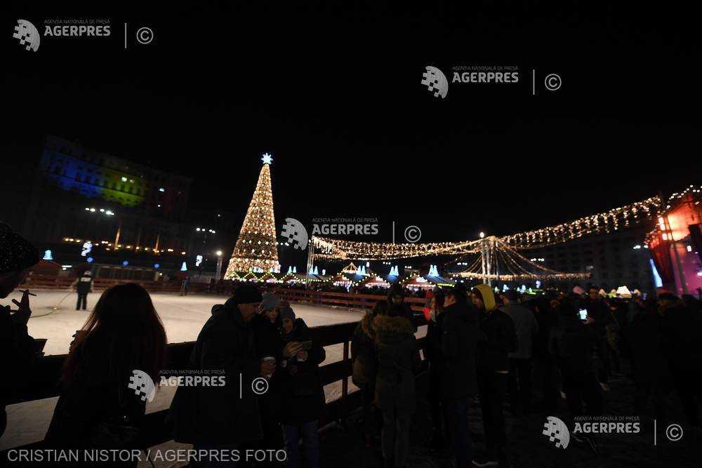 InfoCons: Primăriile din România au cheltuit, în medie, 1,09 milioane de lei pentru iluminatul festiv de sărbători