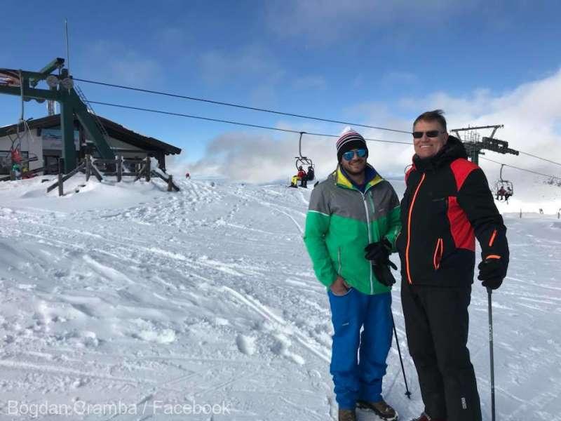 Alba: Şeful statului, la schi la Şureanu, în munţii Sebeşului