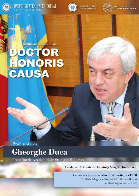 Pop: E prima dată când UBB are un Doctor Honoris Causa din ''România de peste Prut''