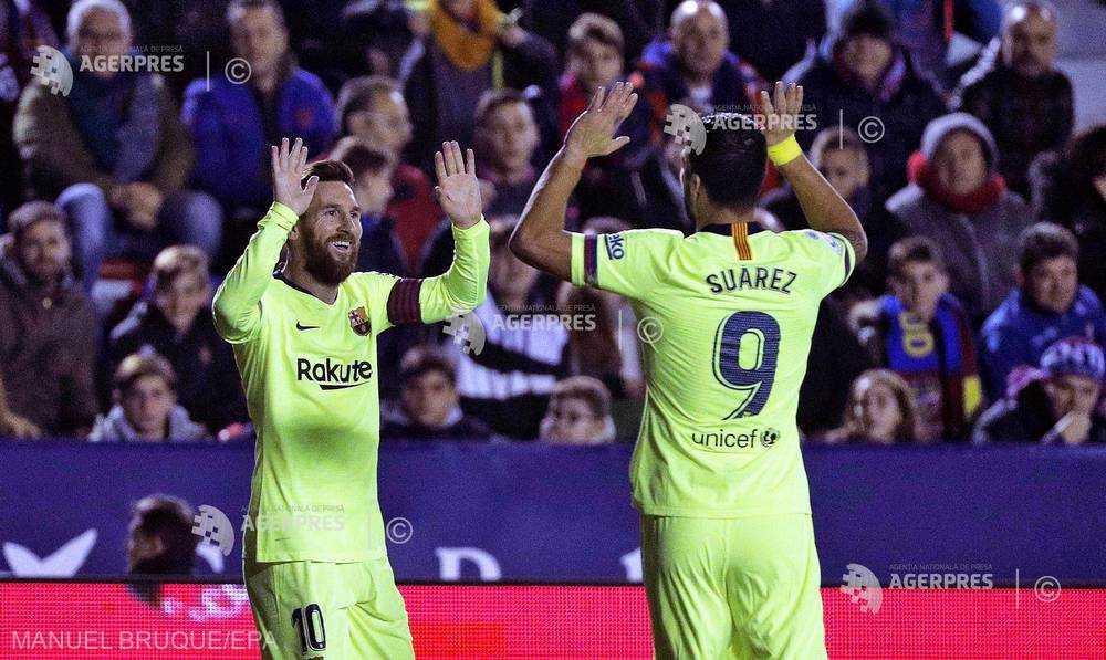 Fotbal: Lionel Messi a făcut spectacol în partida Levante - Barcelona (0-5)