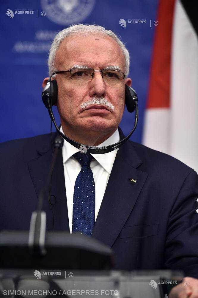 Ministrul de externe palestinian: Sperăm ca în cursul Preşedinţiei române relaţia Palestina-UE să fie un obiectiv prioritar