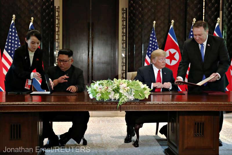 Declaraţia comună Trump-Kim de la finalul summitului din Singapore (text integral)