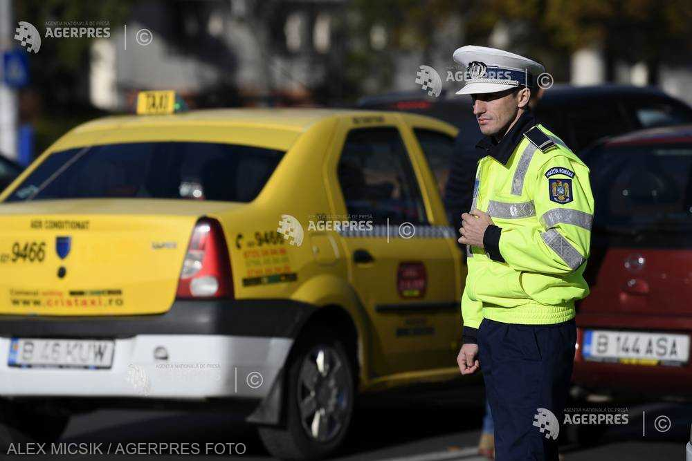 Brigada Rutieră: 39 de sancţiuni aplicate noaptea trecută, în urma unei acţiuni de control a taximetriştilor