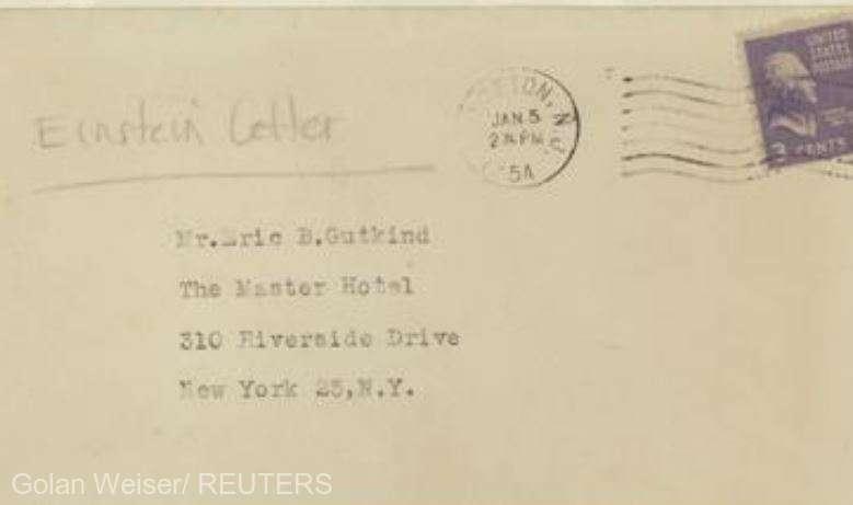 O scrisoare în care Einstein îşi expune concepţia despre Dumnezeu şi religie, scoasă la licitaţie la New York