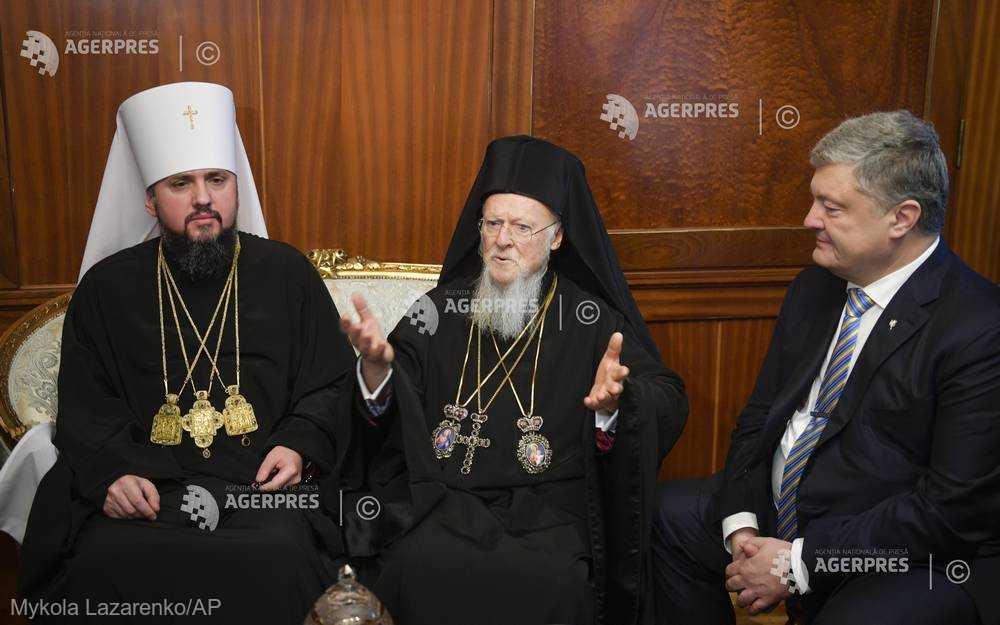 Patriarhul ecumenic Bartolomeu I al Constantinopolului a semnat documentul ce asigură independenţa Bisericii ortodoxe a Ucrainei